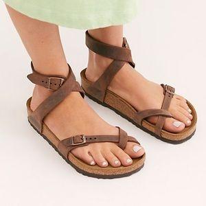 YARA oiled Leather Birkenstock Sandals
